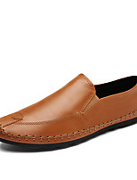 cheap -Men's Shoes Leatherette Spring Fall Comfort Loafers & Slip-Ons for Casual Office & Career Black Gray Yellow