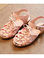 cheap -Girls' Shoes Leatherette Spring Summer Comfort Sandals for Casual Pink Army Green Gray Black