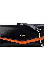 cheap -Women Bags Cowhide Shoulder Bag Buttons for Casual Office & Career All Season Fuchsia Orange Blue