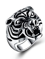 cheap -Men's Statement Ring , Animals Cartoon Oversized Stainless Steel Irregular Costume Jewelry Ceremony New Year