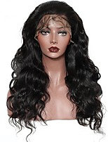 cheap -250% Denstiy Lace Front Human Hair Wigs For Black Women With Baby Hair Pre Plucked Malaysian Body Wave Wig Remy