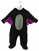 cheap -Baby Boys' Casual/Daily Solid One-Pieces,Cotton Spring Fall Cute Active Long Sleeve Black