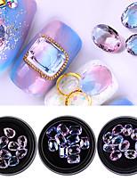 economico -Glitter per unghie Lusso Bling Bling Modelli fantasia Nail Art Design