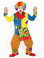 abordables -Burlesques Payaso Circo Disfrace de Cosplay Ropa de Fiesta Adulto Carnaval Festival / Celebración Disfraces de Halloween Arco iris Bloques