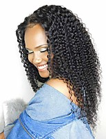 cheap -Human Hair Lace Front Wig Other Kinky Curly Wig With Baby Hair 120% Natural Hairline Short / Medium Length / Long Human Hair Lace Wig