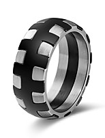 cheap -Men's Women's Band Rings Metallic European Stainless Steel Jewelry Halloween Club