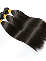 cheap -Brazilian Straight Human Hair Weaves 3 Pieces 0.15