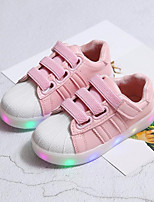 cheap -Girls' Shoes Synthetic Spring Summer Comfort First Walkers Sneakers Gore LED for Casual Outdoor Pink Black White
