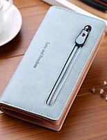 cheap -Women's Bags PU Wallet Zipper for Casual All Seasons Blue Red Gray