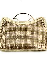 preiswerte -Damen Taschen Polyester Abendtasche Kristall Verzierung Perlen Verzierung für Hochzeit Veranstaltung / Fest Alle Jahreszeiten Gold