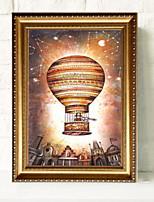 Недорогие -Иллюстрации Предметы искусства,Алюминиевый сплав материал с рамкой For Украшение дома Предметы искусства в рамках В помещении