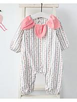 Недорогие -малыш Девочки 1 предмет На каждый день Хлопок Креатив Весна Длинный рукав Бутик Розовый Желтый