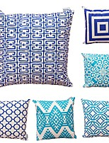 cheap -6 pcs Cotton/Linen Pillow Cover,Geometric Art Deco Abstract