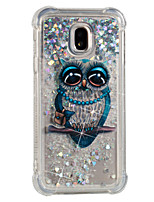 cheap -Case For Samsung Galaxy J7 (2017) J5 (2017) Shockproof Flowing Liquid Pattern Back Cover Owl Soft TPU for J7 (2017) J7 (2016) J7 J5