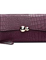 cheap -Women Bags Cowhide Clutch Buttons Zipper for Casual All Season Wine Black Blue