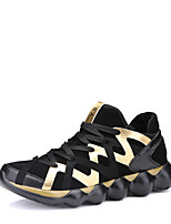 cheap -Shoes Fabric Winter Fall Comfort Sneakers for Casual Outdoor Black Black/Gold Black/White