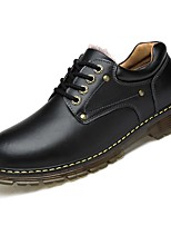 cheap -Men's Shoes Cowhide Spring Fall Comfort Oxfords for Casual Light Brown Black