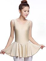 cheap -Ballet Dresses Women's Performance Spandex Pleated Sleeveless Natural Dress