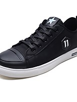cheap -Men's Shoes PU Spring Fall Comfort Sneakers for Casual Outdoor Black/White Black/Red
