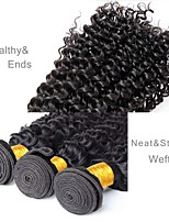 cheap -Brazilian Hair Deep Wave Human Hair Weaves 3pcs Natural Color Hair Weaves