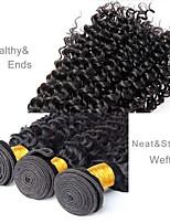 Недорогие -Бразильские волосы Крупные кудри Ткет человеческих волос 3шт Человека ткет Волосы