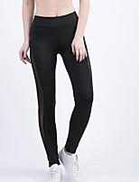 cheap -Women's Artistic Style Nylon Medium Solid Color Legging,Solid Black