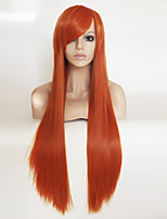 cheap -Cosplay Anime Wig Long Red Straight Hair wig Color Wig 80CM
