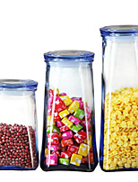 Недорогие -Стекло Творческая кухня Гаджет Хранение продуктов питания 3шт Кухонная организация