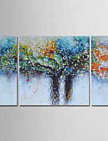 cheap -Hand-Painted Abstract Landscape Vertical, Comtemporary Modern Oil Painting Home Decoration Three Panels