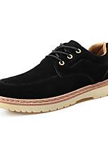 cheap -Men's Shoes Fleece Spring Fall Comfort Oxfords for Casual Black Blue Camel