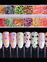 cheap -1set Round Fashionable Jewelry Sweet Style Sequins Nail Glitter Mixed Pattern Nail Art Design Nail Art Tips