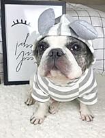 economico -Cane Felpe con cappuccio Felpa Abbigliamento per cani Alla moda Casual Solidi Grigio Costume Per animali domestici