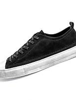 Недорогие -Для мужчин обувь Полиуретан Весна Осень Удобная обувь Кеды для Повседневные Черный Хаки