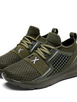 Недорогие -обувь Тюль Весна Лето Удобная обувь Кеды для Повседневные Белый Черный Военно-зеленный Красный