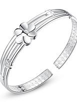 abordables -Femme Manchettes Bracelets Ethnique Mode Alliage Fleur Bijoux Quotidien Formel