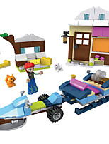 cheap -Building Blocks Toys Car Fairytale Theme Architecture Vehicles Exquisite Parent-Child Interaction Mythology ABS Boys Girls Pieces