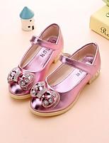 Недорогие -Девочки обувь Полиуретан Весна Осень Удобная обувь Детская праздничная обувь На плокой подошве для Повседневные Золотой Серебряный Розовый