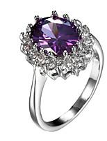 preiswerte -Damen Bandringe Knöchel-Ring Kubikzirkonia Formell Einfach Klassisch Elegant Kupfer Geometrische Form Schmuck Hochzeit Party Verlobung
