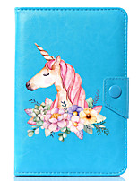 abordables -Caricature universelle licorne pu étui en cuir pour 7 pouces 8 pouces 9 pouces 10 pouces tablet pc