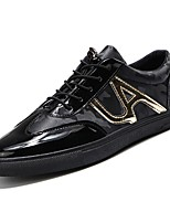 cheap -Men's Shoes PU Spring Fall Comfort Sneakers for Casual Black/Gold Black