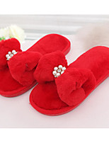 cheap -Girls' Shoes Fleece Spring Fall Comfort Slippers & Flip-Flops for Casual Pink Red Gray Black