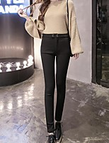 cheap -Women's Cotton Opaque Solid Color Legging,Solid White Black