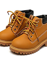 cheap -Boys' Shoes Real Leather Winter Fall Comfort Combat Boots Boots Booties/Ankle Boots for Casual Yellow