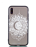 cheap -Case For Apple iPhone X iPhone 8 Transparent Embossed Pattern Back Cover Lace Printing Hard PC for iPhone X iPhone 8 Plus iPhone 8 iPhone