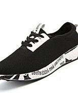 preiswerte -Herrn Schuhe Tüll Frühling Herbst Komfort Sneakers für Normal Weiß