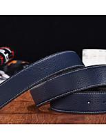 cheap -Genuine Leather Waist Belt,Blue Black Orange Yellow Khaki Casual