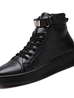 baratos -Homens sapatos Couro Ecológico Outono Conforto Mocassins e Slip-Ons para Casual Branco Preto Vermelho