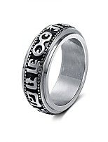 cheap -Men's Women's Band Rings Casual Ethnic Stainless Steel Irregular Jewelry Going out Festival