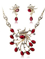 cheap -Women's Jewelry Set Bridal Jewelry Sets Fashion Elegant Wedding Party Gold Plated 1 Necklace Earrings