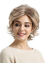 cheap -Synthetic Hair Wigs Natural Wave Side Part Pixie Cut With Bangs Natural Wigs Short Brown